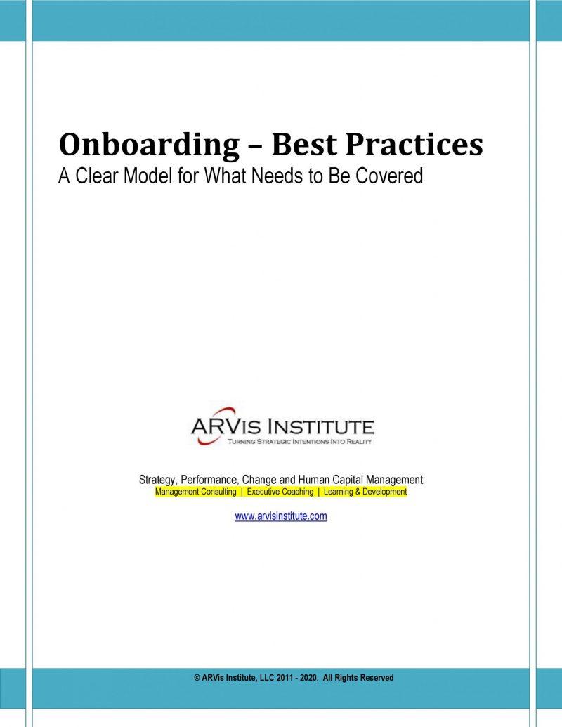 Onboarding Model. An Onboarding Methodology by ARVis Institute