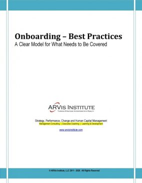 Onboarding Model. An Onboarding Methodology by ARVis Institute